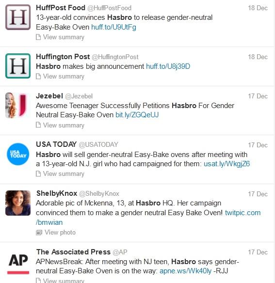 Hasbro tweets