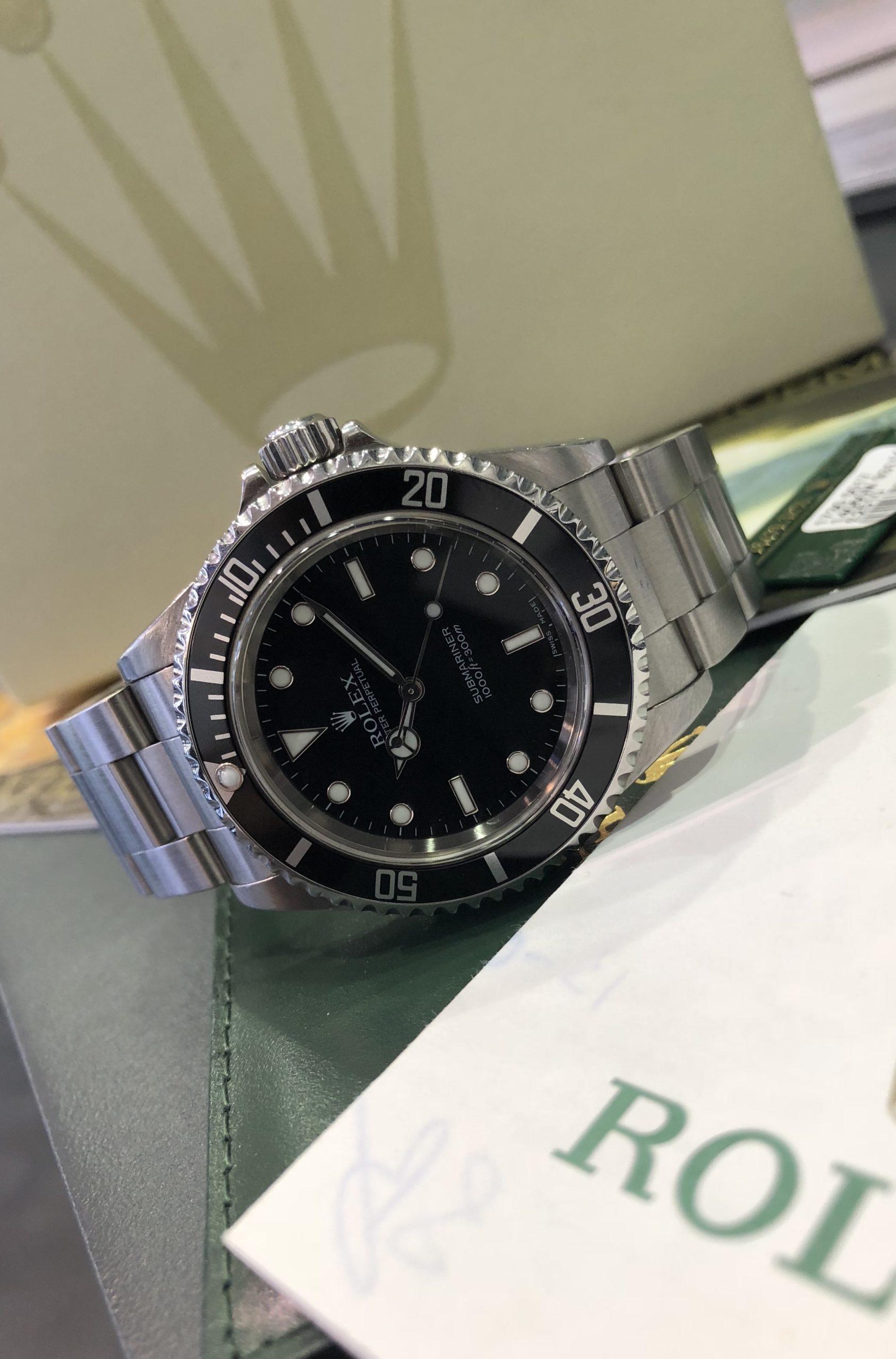 ROLEX SUBMARINER NON DATE 2 LINE 14060 - Carr Watches