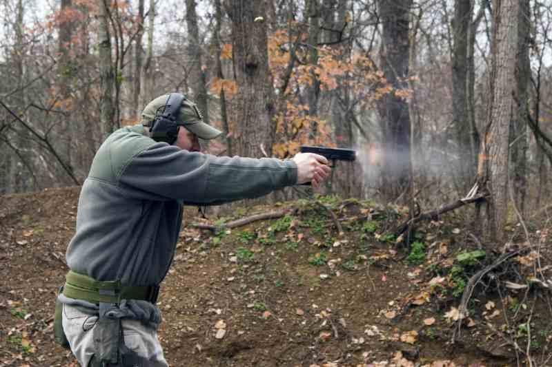 Shooting a semi-auto pistol