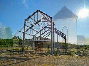 Steelwork being erected