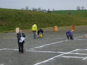 Marking out the site