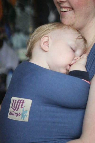 Lifft BLUE Stretchy Wrap Carrier Sling Blue