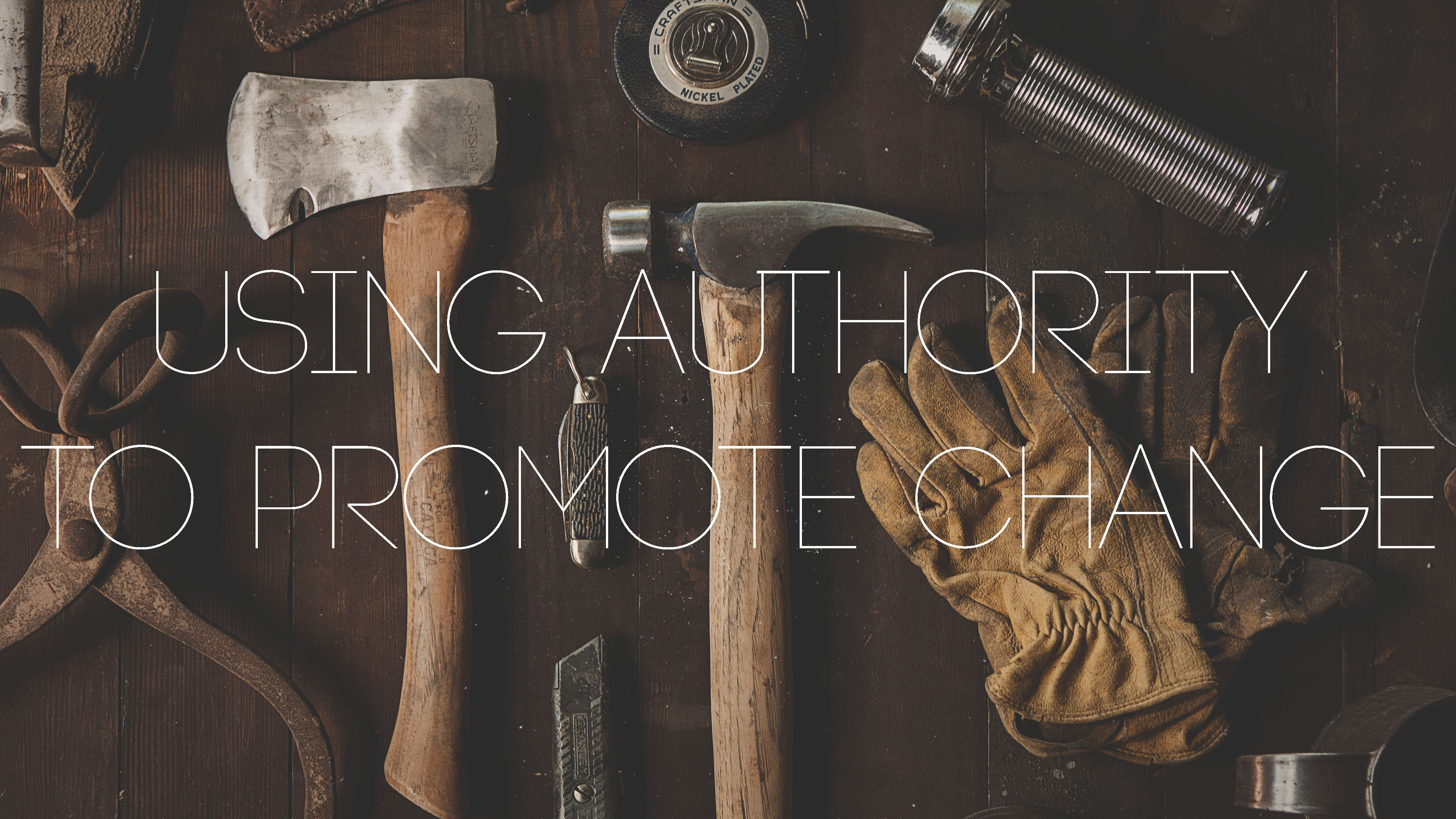 A Leader's Toolbox: Using Authority to Promote Change