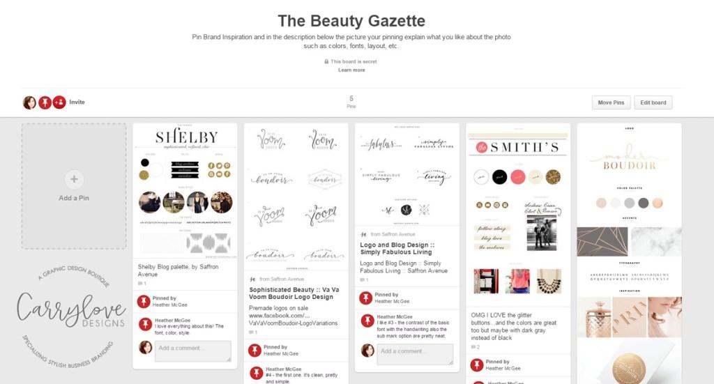 Pinterest-Board-The-Beauty-Gazette-Brand-launch
