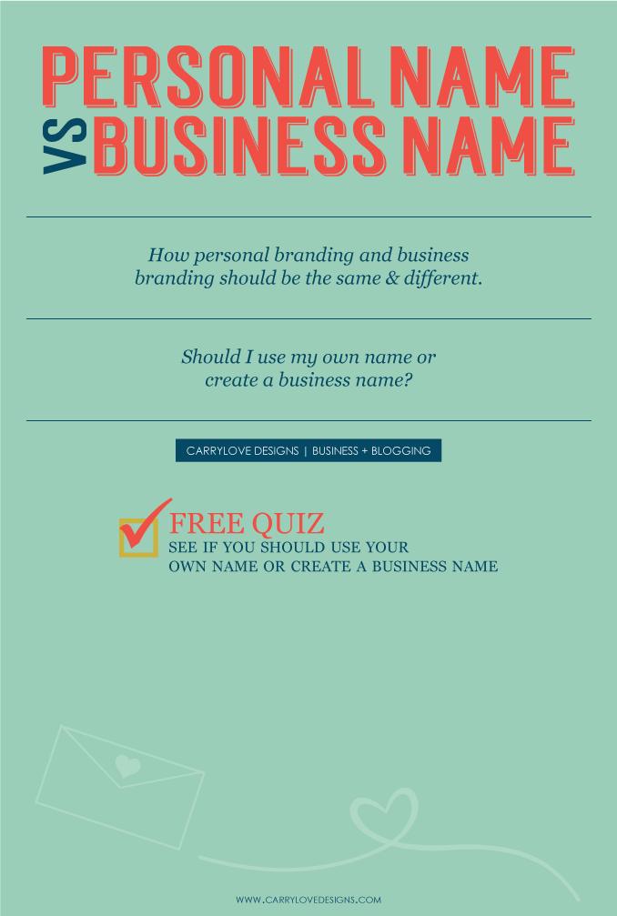 Personal Brand vs Business brand