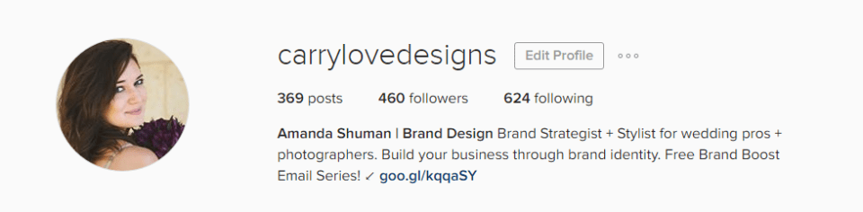 how to craft an Instagram bio that attracts potential clients