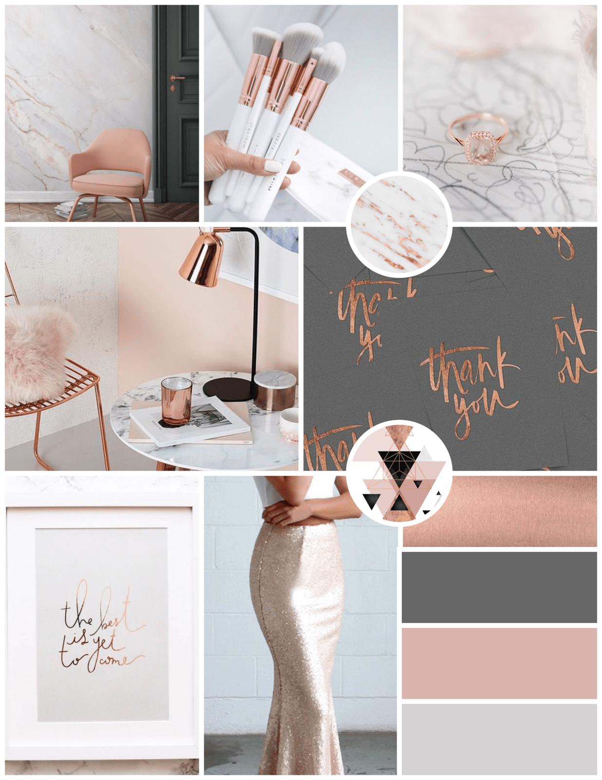 Moodboard for Be Free Makeup Artistry Brand Identity