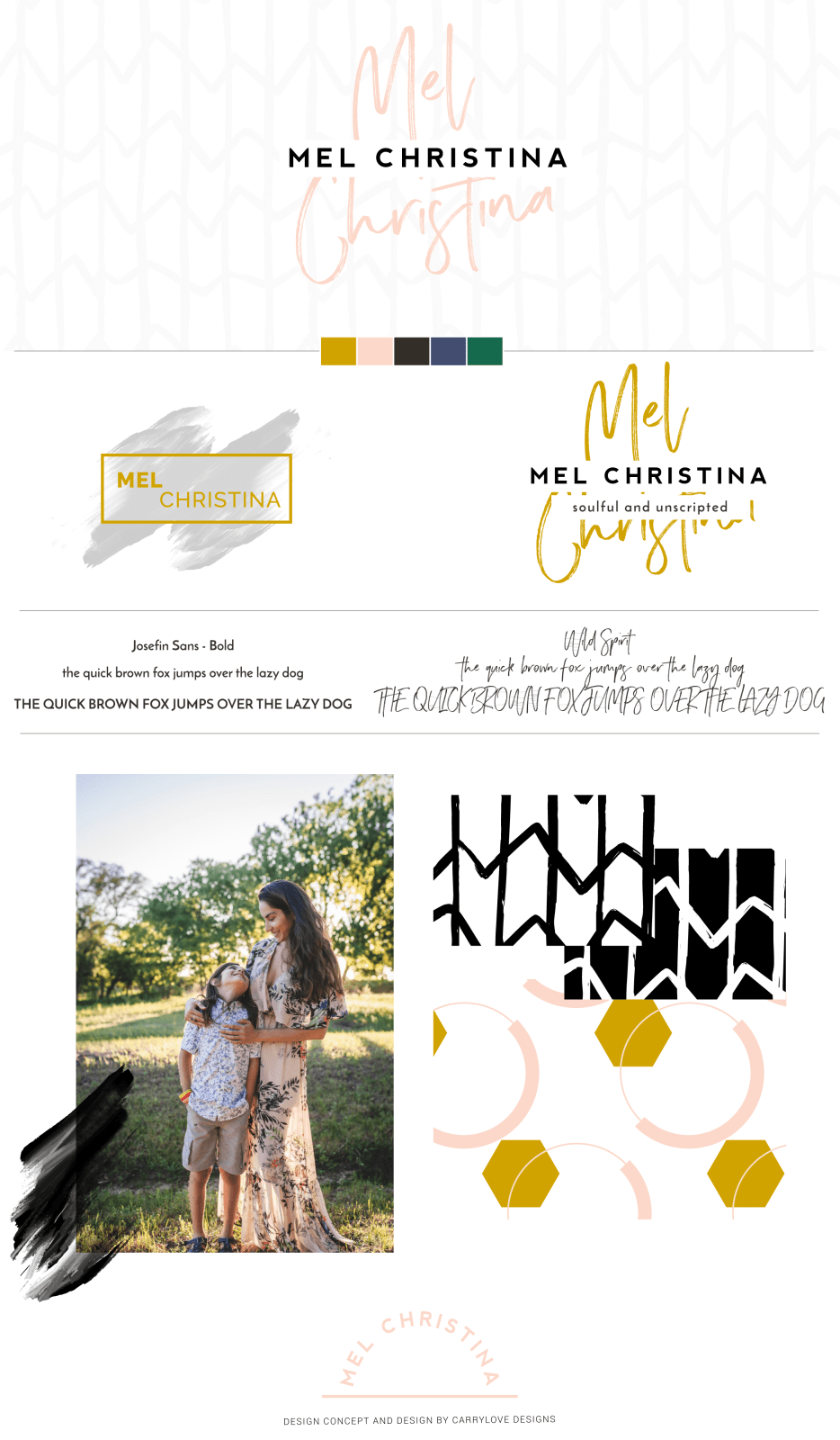 Modern Brand Reveal for Mel Christina Photography by Carrylove Designs