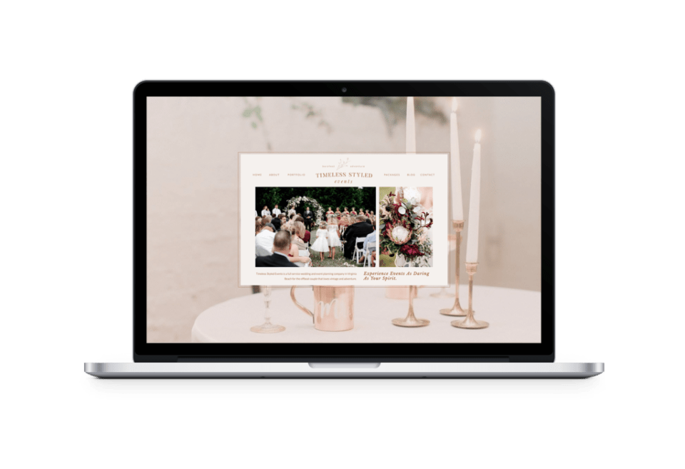 Creative Process: Timeless Styled Events Brand and Website Launch