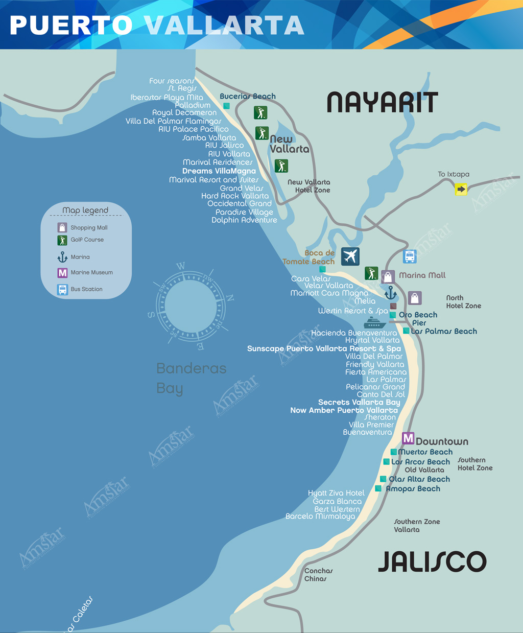Puerto Vallarta Hotel Map : puerto, vallarta, hotel, Puerto, Vallarta, Hotels, Maping, Resources