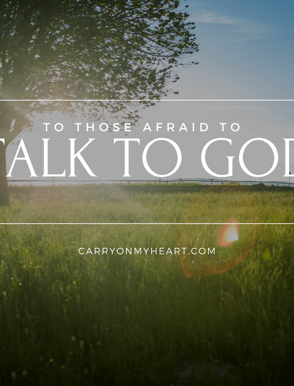 Learning how to talk to God