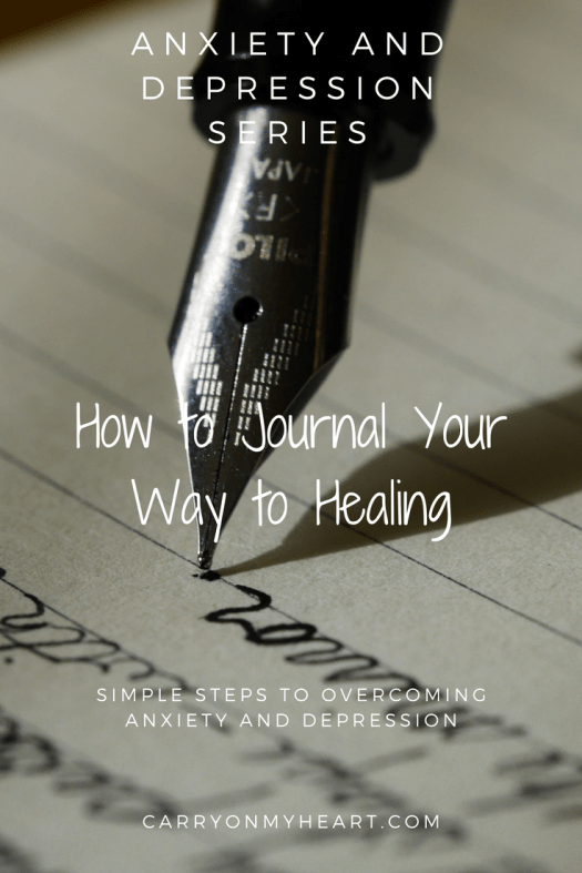 The Anxiety and Depression Series - How to Journal Your Way to Healing #journaling #anxiety #depression