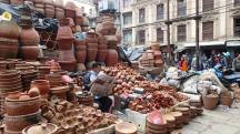 Clay pots for the temples