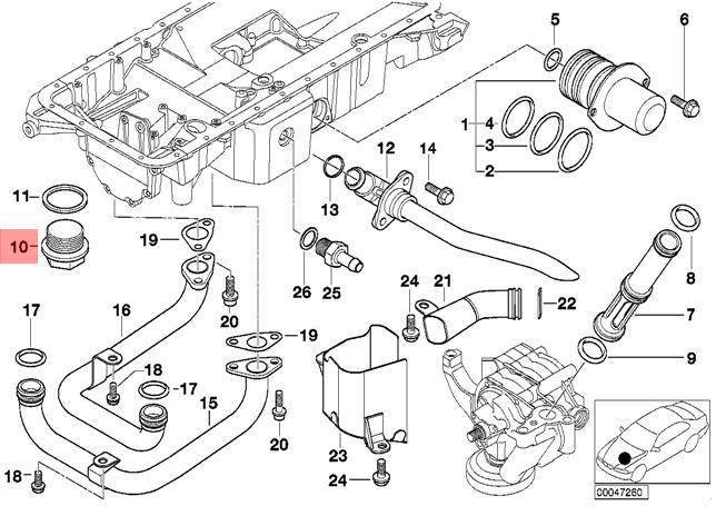 Genuine BMW E52 Roadster Oil Sump Pan Drain Plug OEM