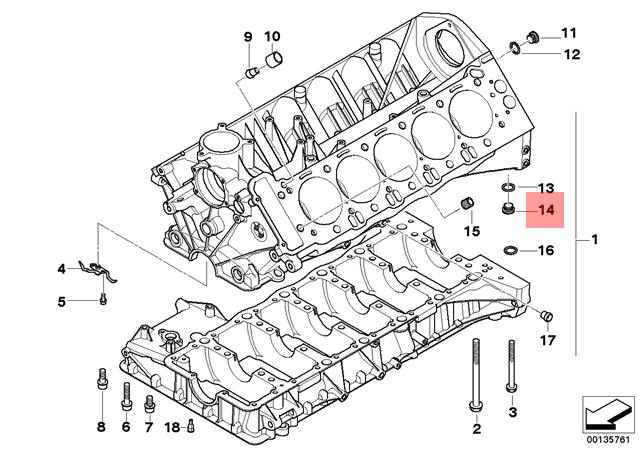 Genuine BMW A40 E34 E36 E39 Oil Sump Pan Drain Plug x10