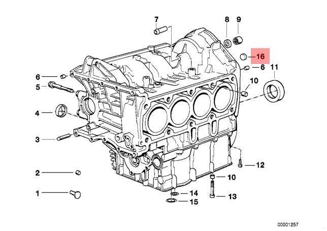 Genuine BMW E28 E30 E34 Cabrio Cylinder Head Cover Lid x5