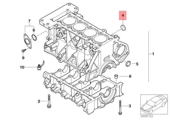 Genuine BMW JCW R50 R52 R53 Cylinder Head Cover Lid x10