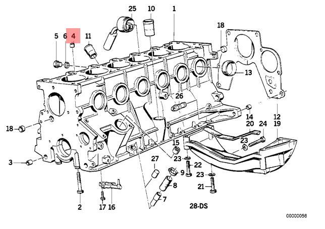 Genuine BMW E28 E30 E34 Sedan Wagon Engine Block Dowel OEM