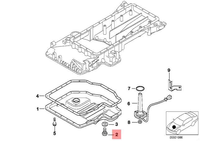 Genuine BMW E31 E32 E34 E38 Oil Sump Pan Drain Plug x5 pcs