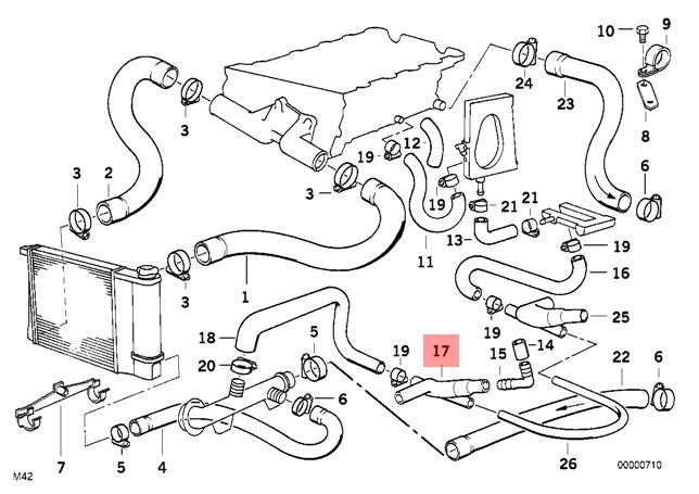 Genuine Engine Crankcase Vent Hose BMW E30 318i 318is