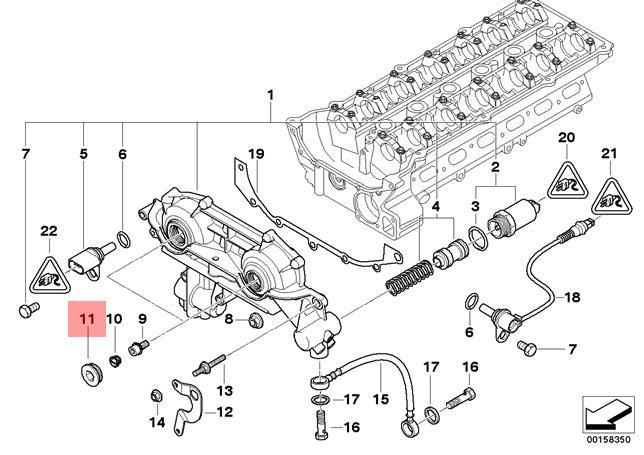 Genuine BMW E38 E39 E46 E53 Seal Ring Screw Vanos Unit