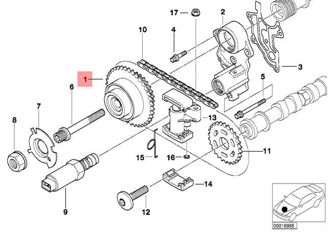Genuine BMW E38 E39 E52 E53 M62 Timing Chain Sprockets