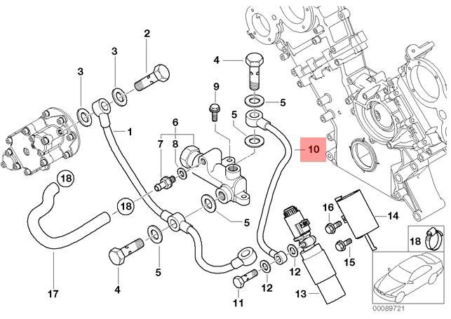 Genuine BMW E39 E52 Roadster Sedan Crankcase Breather Hose