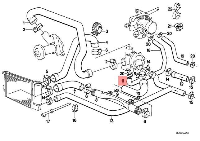 Genuine BMW E30 E34 Z1 Cabrio Coupe Cooling System Water