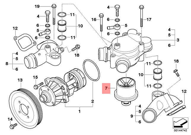 Genuine Engine Thermostat BMW M3 M6 E60 E61 E63 E64 E90