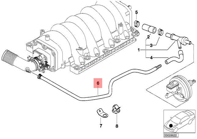 Genuine BMW E38 E39 E52 E53 Sedan Engine Vacuum Control