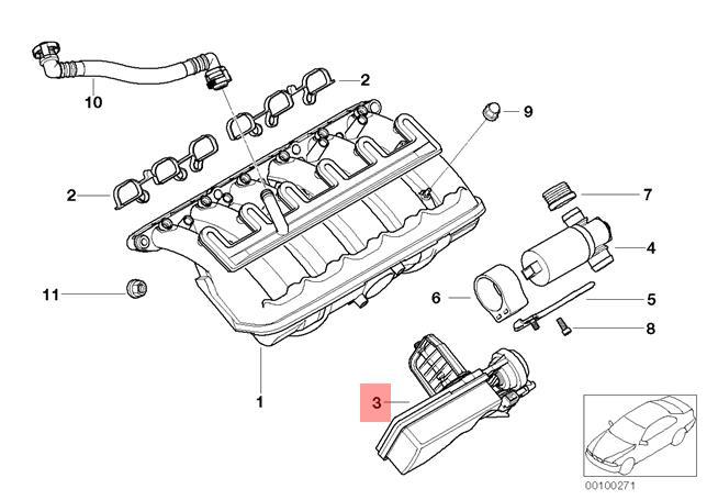 Genuine BMW Air Intake Manifold Flap Adjuster Unit DISA