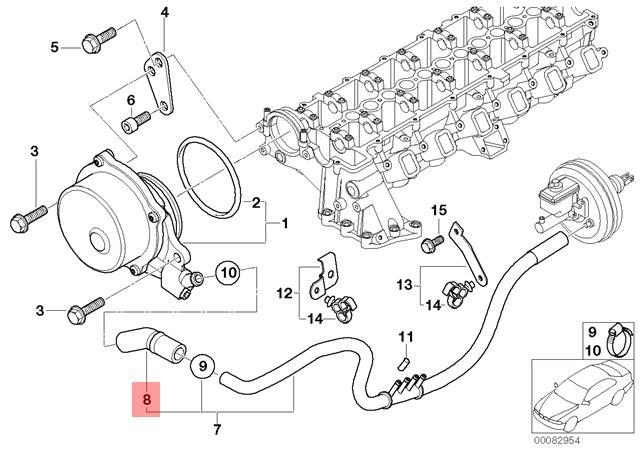 Genuine BMW E38 E39 E53 Estate Saloon Vacuum Pump Tube