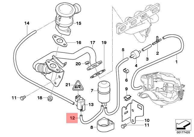 Genuine BMW E36 E46 Z3 Compact Air Pump F Vacuum Control