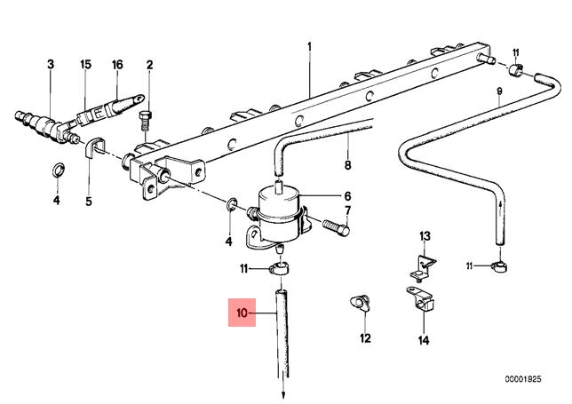 Genuine BMW E24 E32 Coupe Saloon Fuel Injection System