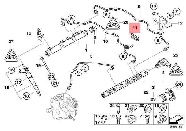 Genuine BMW E38 E39 Vacuum Control Turbocharger Line