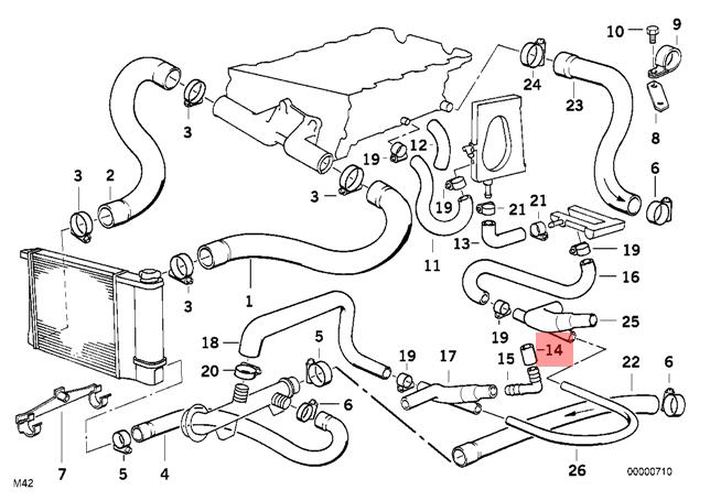 Genuine BMW E30 Convertible Coupe Cooling System Water