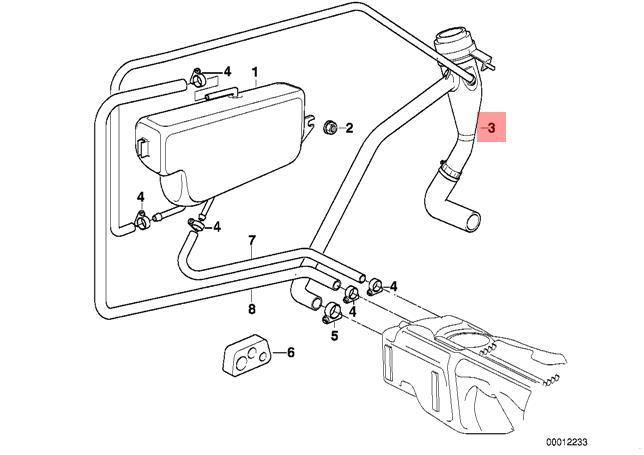 Genuine BMW E36 Compact Plastic Filler Fuel Pipe OEM