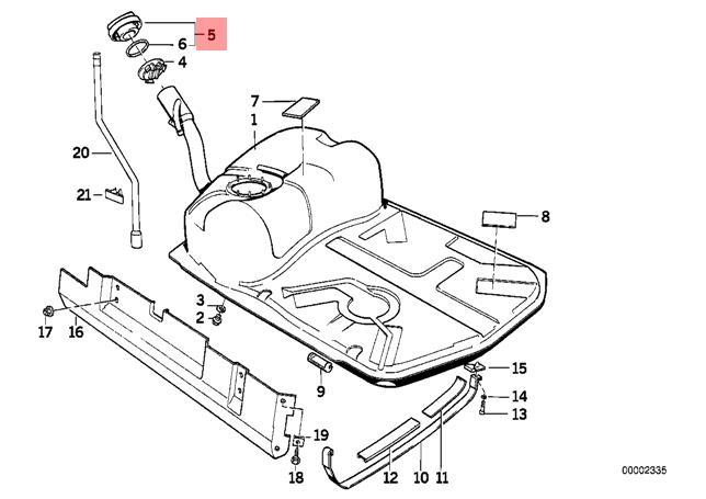 Genuine Fuel Filler Cap Without Lock BMW M5 Z3 E3 E31 E34