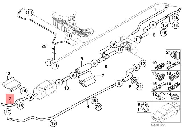 Genuine BMW E46 Compact Convertible Coupe Rear Fuel Feed