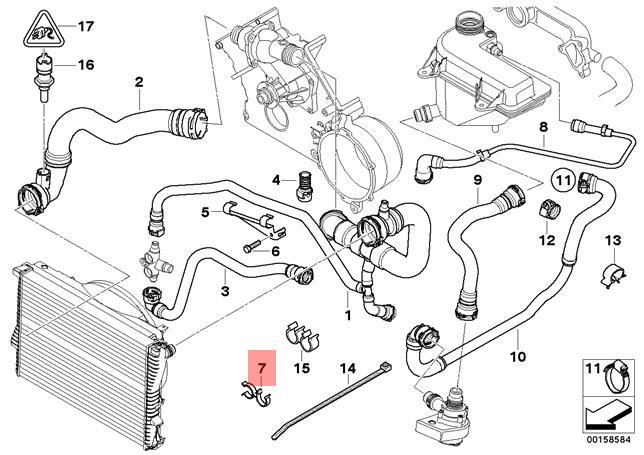 Genuine Radiator Hose Clamp BMW X5 E53 X5 4.4i 4.6is SUV