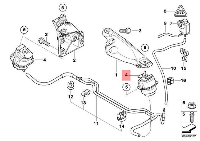Genuine BMW E70 X5 3.5d 35dx Engine Motor Mount 2007-2013