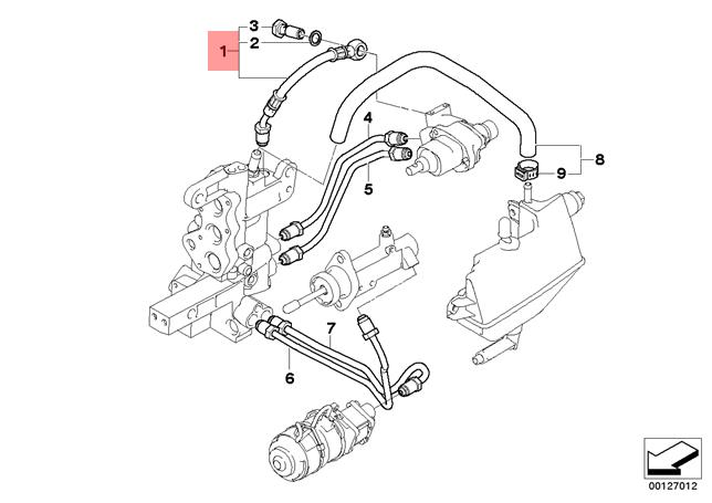 Genuine BMW E46 Coupe Manual Transmission Hydraulic Pipe