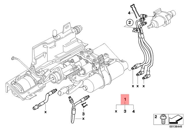 Genuine BMW E60 E61 Manual Transmission Hydraulic Pipe Kit