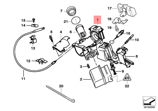Genuine BMW E39 525 528 E38 X5 Steering Lock Housing w/o
