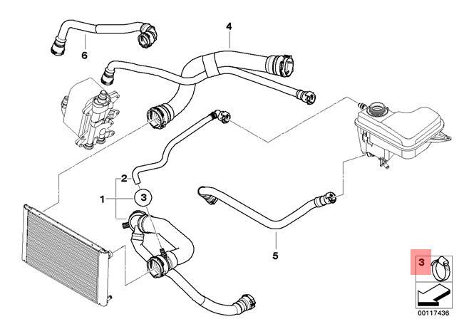 Genuine BMW E30 E32 Cooling System Coolant Hose Clamp x10