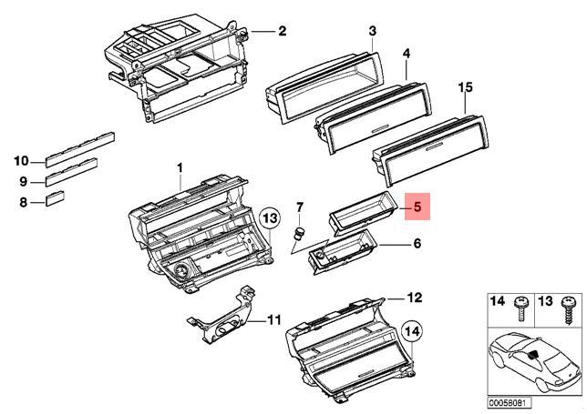 Genuine Storing Partition Front BMW M6 E46 E63 E64 316Ci