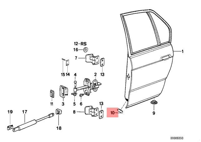 Genuine Blind Plug x5 pcs BMW M5 E32 E34 518g 518i 520i