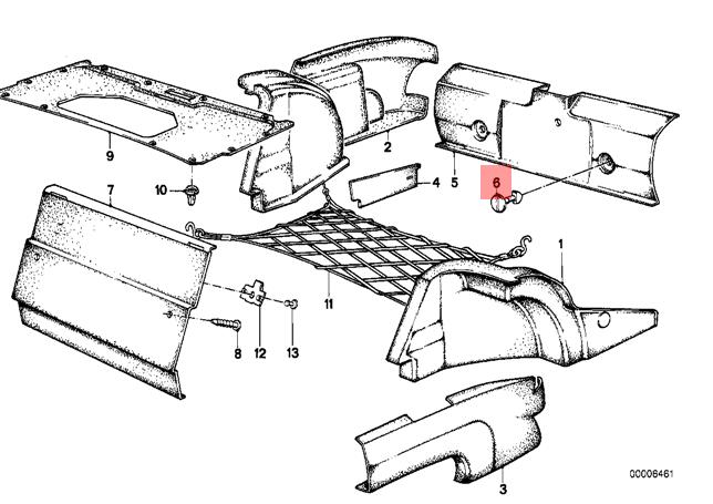 Genuine BMW E28 Sedan Trunk Trim Panel Lock OEM