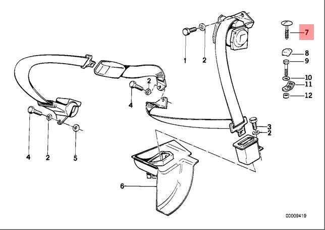 Genuine Blind Plug x5 pcs BMW M5 E31 E32 E34 E36 E38 316i
