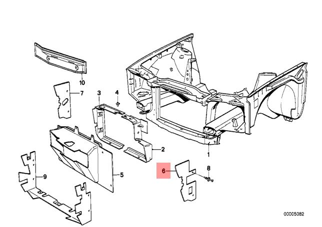 Genuine BMW E30 Cabrio Coupe Sedan Left Air Intake Tube